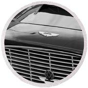 1960 Aston Martin Db4 Grille Emblem Round Beach Towel by Jill Reger