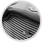 1960 Aston Martin Db4 Gt Coupe' Grille Emblem Round Beach Towel