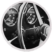 1960 Aston Martin Db4 Gt Coupe' Steering Wheel Emblem Round Beach Towel