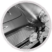 1960 Aston Martin Db4 Series II Grille Round Beach Towel