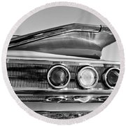 1960 Chevrolet Impala Resto Rod Taillight Round Beach Towel