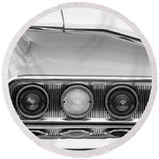 1960 Chevrolet Impala Tail Lights Round Beach Towel