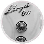 1960 Lloyd 600 Taillight Emblem Round Beach Towel