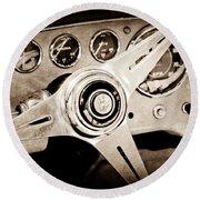 1960 Maserati Steering Wheel Emblem Round Beach Towel