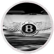 1961 Bentley S2 Continental - Flying Spur - Emblem Round Beach Towel