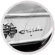 1961 Chevrolet Impala Ss Emblem Round Beach Towel