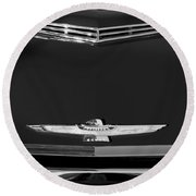 1961 Ford Thunderbird Hood Emblem Round Beach Towel