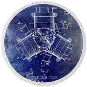 1961 Propeller Patent Drawing Round Beach Towel