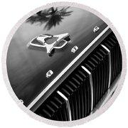 1962 Dodge Polara 500 Grille - Hood Emblem Round Beach Towel