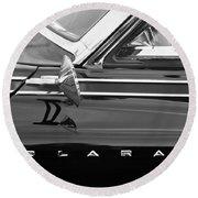 1962 Dodge Polara 500 Side Emblem Round Beach Towel