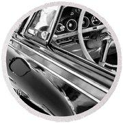 1962 Dodge Polara 500 Side Emblem - Steering Wheel Round Beach Towel
