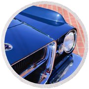 1962 Ghia L6.4 Coupe Grille Emblem Round Beach Towel