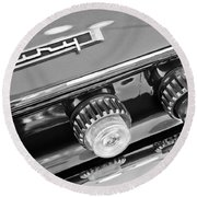 1962 Plymouth Fury Taillights And Emblem Round Beach Towel