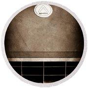 1963 Apollo Gran Tourismo Hood Emblem Round Beach Towel