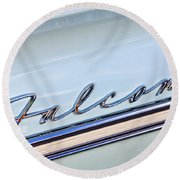 1963 Ford Falcon Futura Convertible  Emblem Round Beach Towel by Jill Reger