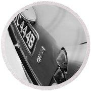 1964 Aston Martin Db5 Coupe' Taillight Round Beach Towel