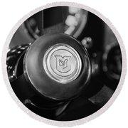 1964 Aston Martin Steering Wheel Emblem Round Beach Towel