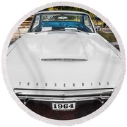 1964 Ford Thunderbird Painted Round Beach Towel