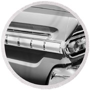 1964 Mercury Comet Taillight Emblem Round Beach Towel