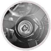 1965 Aston Martin Db5 Coupe Rhd Steering Wheel Round Beach Towel