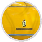 1965 Ferrari 275gts Emblem Round Beach Towel