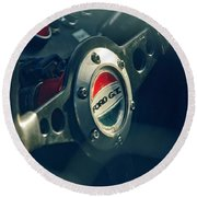 1965 Ford Gt 40 Steering Wheel Emblem Round Beach Towel