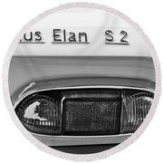 1965 Lotus Elan S2 Taillight Emblem Round Beach Towel