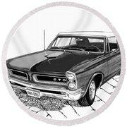 1965 Pontiac G T O Convertible Round Beach Towel