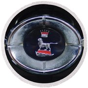 1965 Sunbeam Tiger Grille Emblem Round Beach Towel