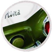 1966 Lotus Cortina Mk1 Taillight Emblem Round Beach Towel