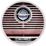 1966 Plymouth Barracuda - Cuda - Emblem Round Beach Towel
