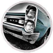 1966 Pontiac Gto Round Beach Towel