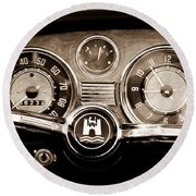 1966 Volkswagen Vw Karmann Ghia Steering Wheel Round Beach Towel