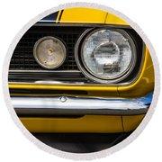 1967 Camaro Headlight Round Beach Towel