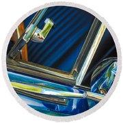 1967 Chevrolet Camaro Ss 350 Rear View Mirror Emblem Round Beach Towel
