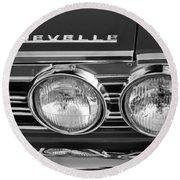 1967 Chevrolet Chevelle Super Sport Emblem Round Beach Towel