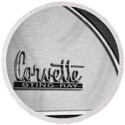1967 Chevrolet Corvette Glove Box Emblem Round Beach Towel