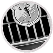 1967 Fiat Abarth 1000 Otr Emblem Round Beach Towel