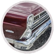 1967 Ford Fairlane 500xl Round Beach Towel