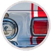 1968 Ford Mustang Fastback 427 Ci - Cobra Emblem Round Beach Towel