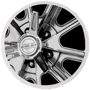 1968 Ford Mustang Fastback 427 Shelby Cobra Wheel Round Beach Towel