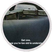 1968 Pontiac Gto Round Beach Towel