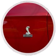 1968 Shelby Gt350 Side Emblem Round Beach Towel