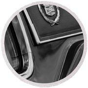 1969 Cadillac Eldorado Emblem Round Beach Towel