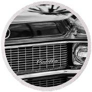 1969 Cadillac Eldorado Grille Round Beach Towel