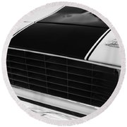 1969 Chevrolet Camaro Rs-ss Indy Pace Car Replica Grille - Hood Emblems Round Beach Towel