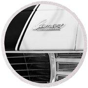 1969 Chevrolet Camaro Rs-ss Indy Pace Car Replica Hood Emblem Round Beach Towel by Jill Reger