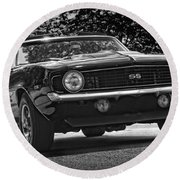 1969 Chevy Camaro Ss Round Beach Towel