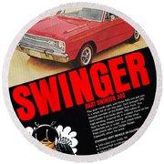1969 Dodge Dart Swinger 340 Round Beach Towel