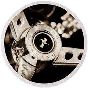 1969 Ford Mustang Mach 1 Steering Wheel Round Beach Towel by Jill Reger